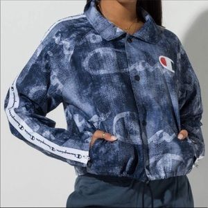 NWT Champion cropped Coaches jacket Size S